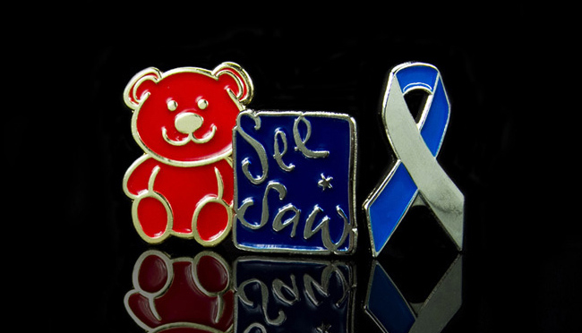 bespoke fundraising charity pin badges