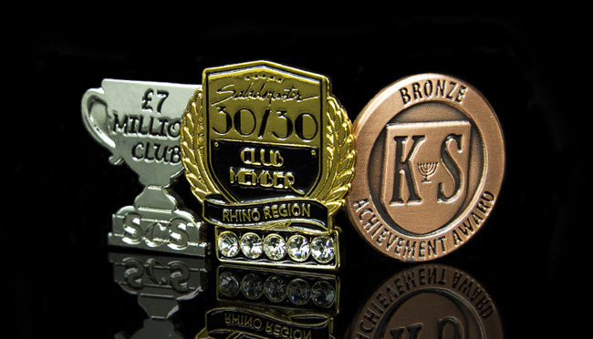 bespoke award pin badges
