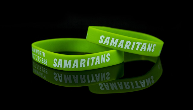 samaritans charity wristbands