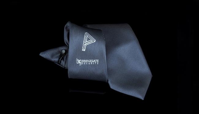 custom made security clip-on ties