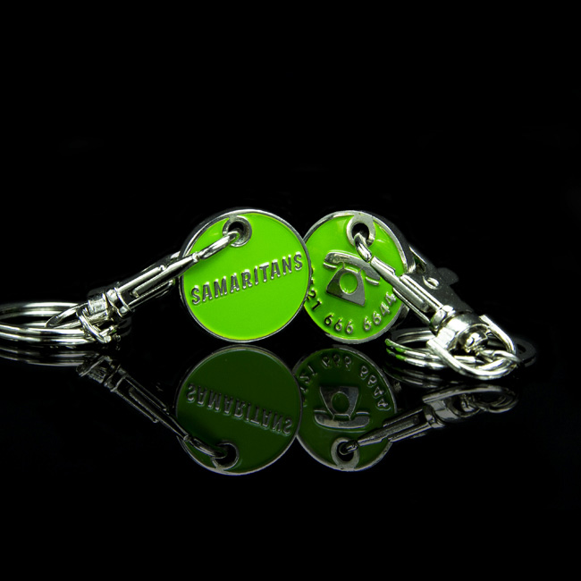Charity Trolley Coins   Bespoke Charity Trolley Tokens - BT&T